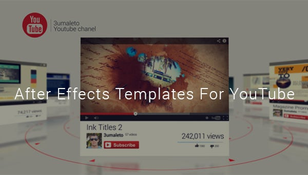 23 After Effect Templates For Youtube Free Premium Templates