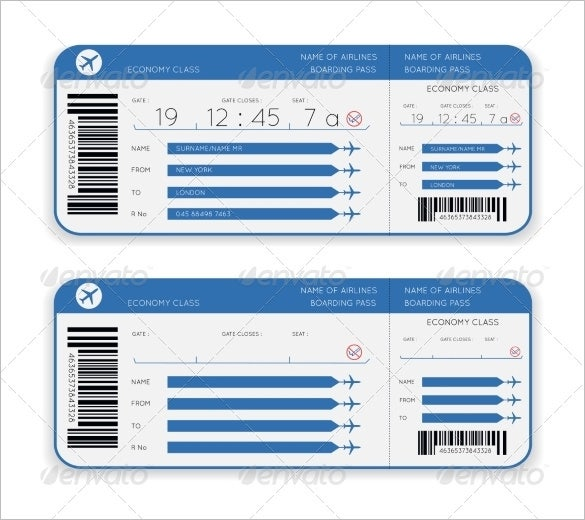Fillable Ticket Template Printable Editable Blank – Ticket Template Free Word