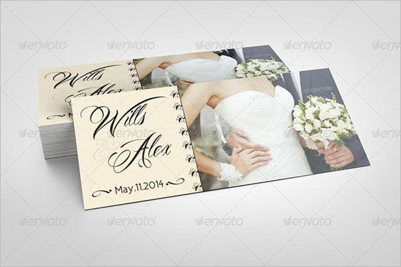 alex wedding rack card indesign template 6