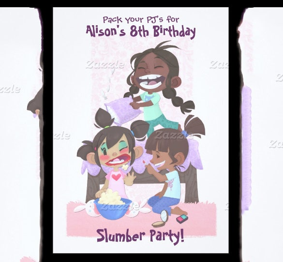 Alisons Slumber Party Invitation Template