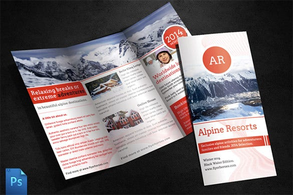 alpine travel brochure dark background