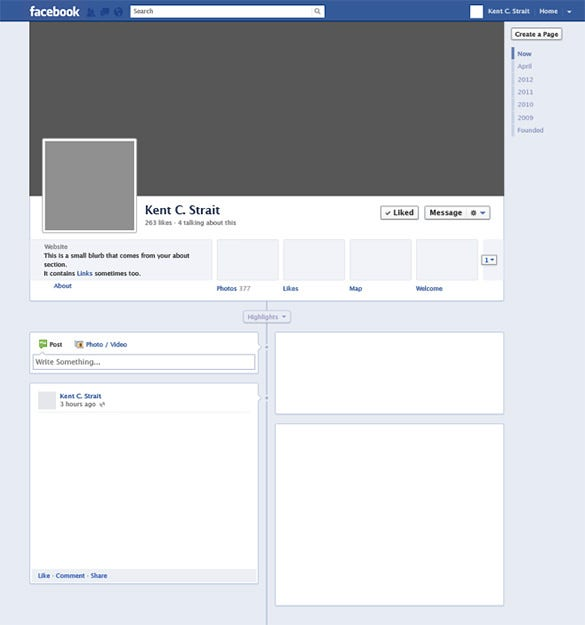 Facebook page template for word kubreforic facebook cheaphphosting Images