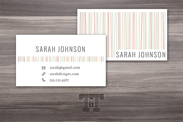 amazing calling card psd template