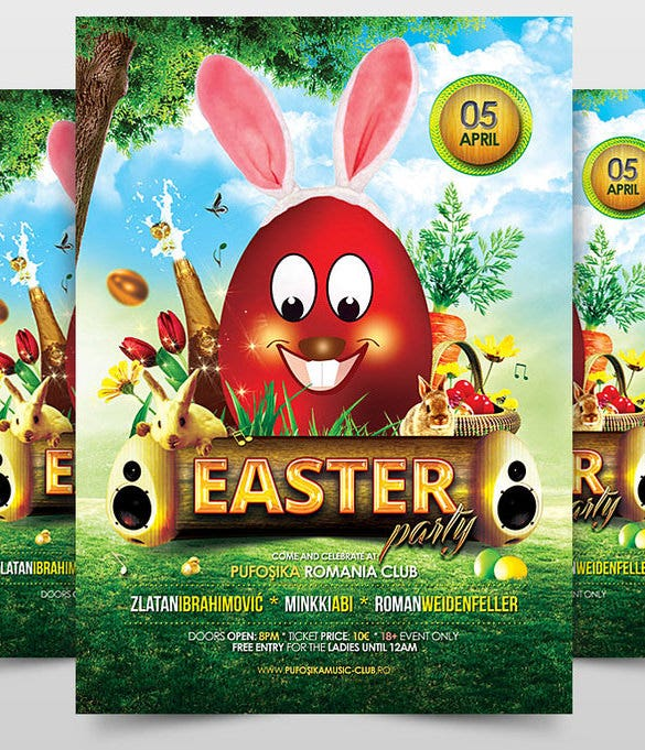 amazing easter party invitation
