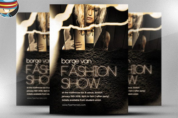 amazing fashion show flyer template