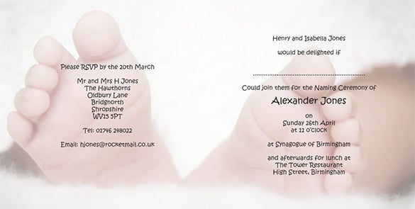 Amazing Naming Ceremony Invitation Template