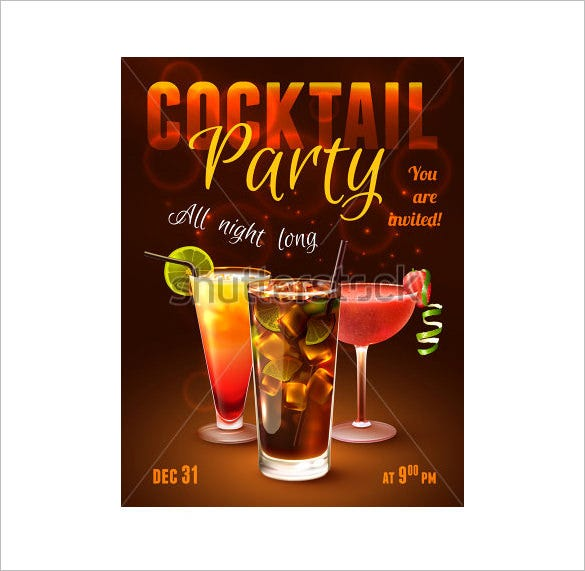 amazing psd cocktails party invitation template