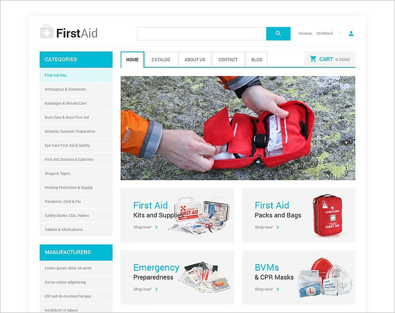 Ambulance Responsive VirtueMart Template