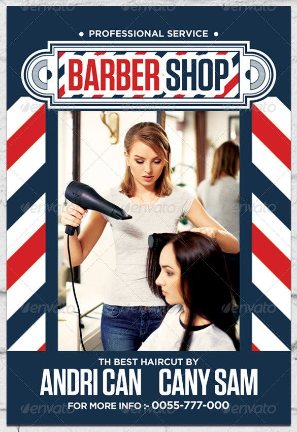 andri can barber shop flyer template