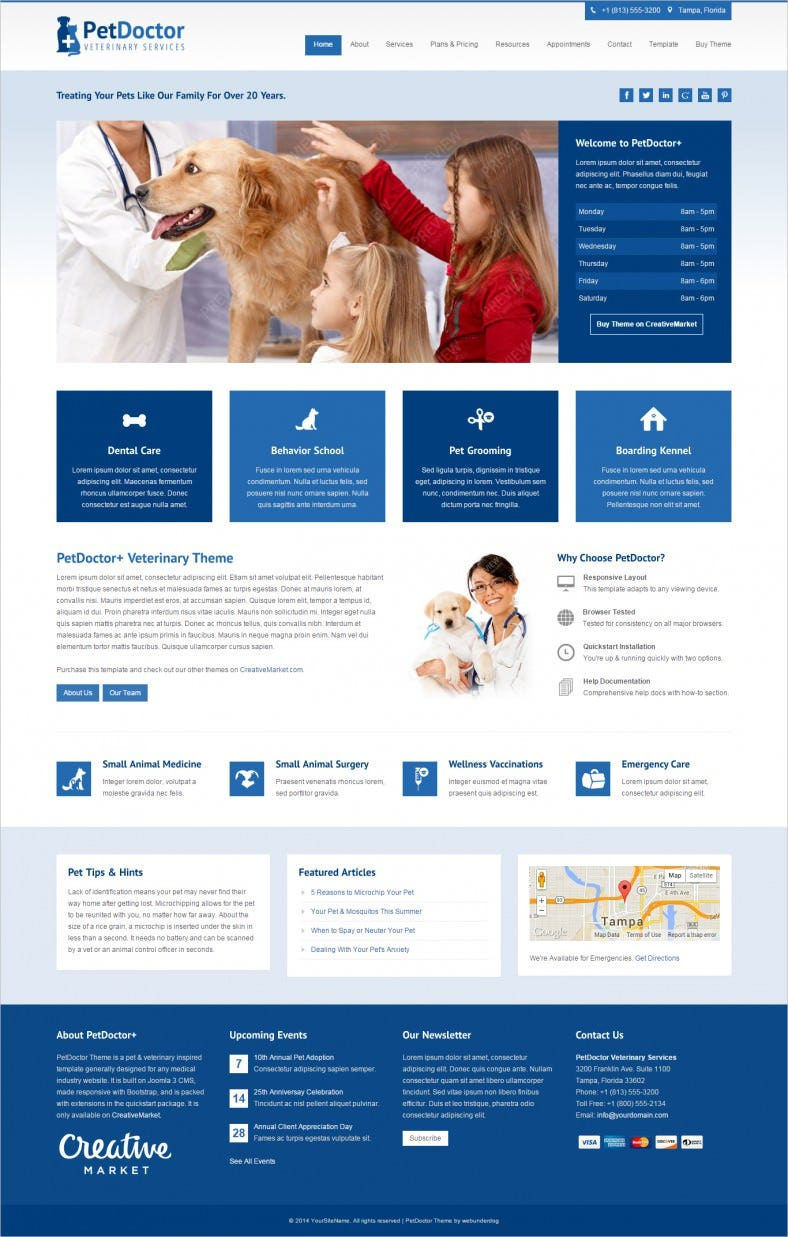 Animal Shelter & Hospitals Joomla Template