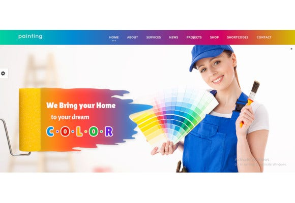 animated effects painting wordpress theme
