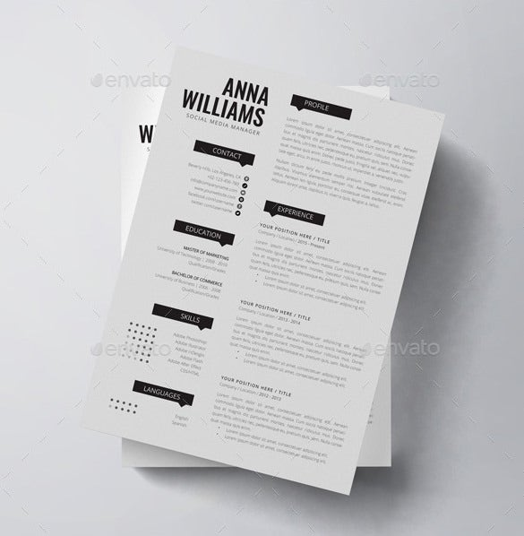 anna williams manager resume template