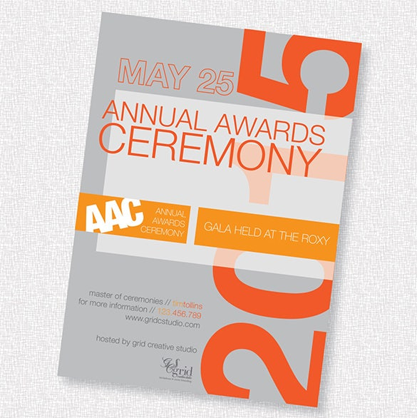 annual awards ceremony invitation template