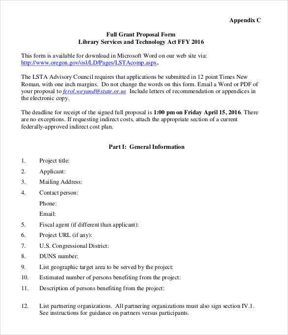 appendix-full-grant-proposal-form