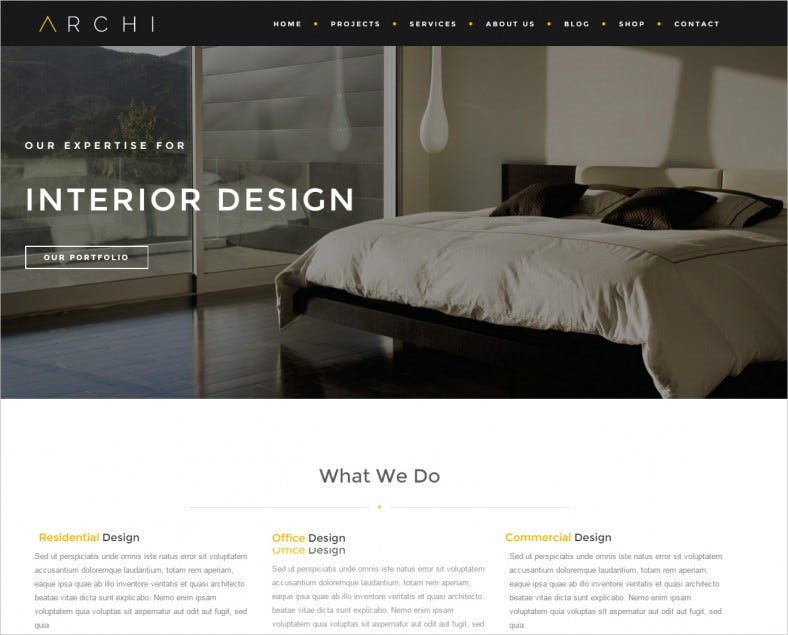 Archi Interior Design Website Template 788x635