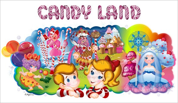 Astounishing Candyland Invitation Template