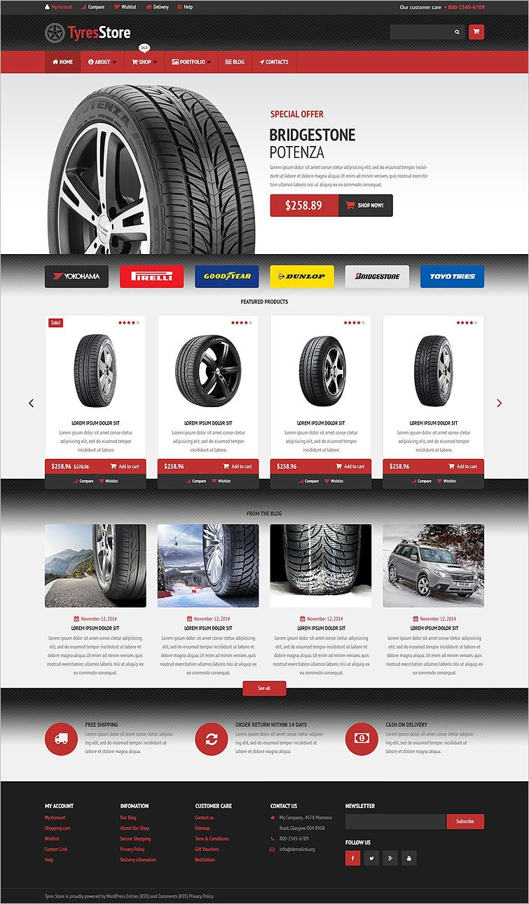 auto parts store woocommerce theme