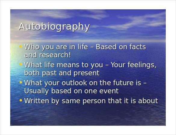 autobiography-outline-ppt