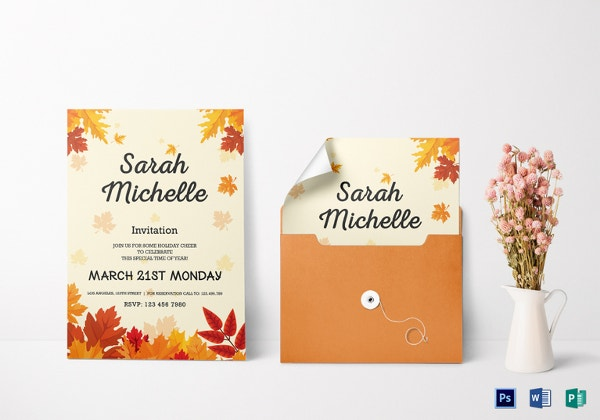 autumn debut invitation card