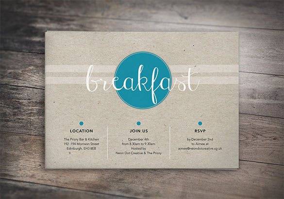 awesome breakfast invitation template