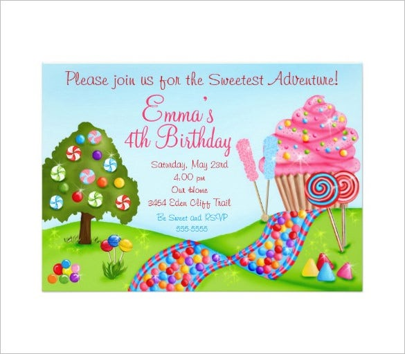 Awesome Candyland Invitation Templates