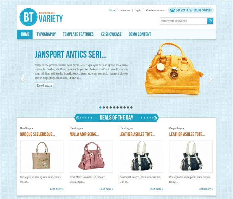 bt variety fashion catalog joomla template 788x673