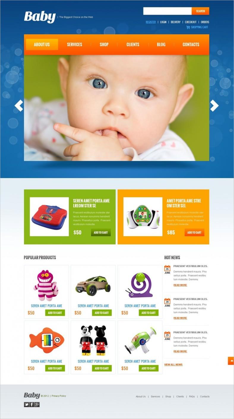 baby store jigoshop theme 788x1412