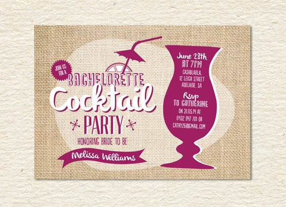 15 Stunning Cocktail Party Invitation Templates Designs – Coctail Party Invitation