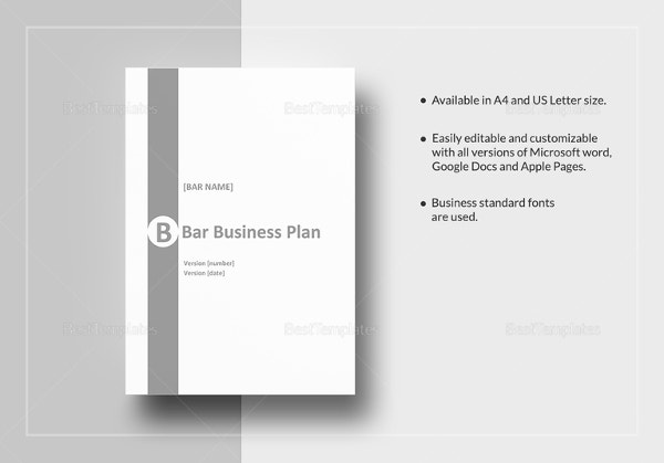 Bar Business Plan Template Free Word Excel PDF Format - Standard business plan template