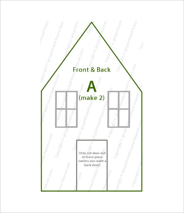 photo regarding Gingerbread House Template Printable called 8+ Gingerbread Space Templates Totally free Quality Templates