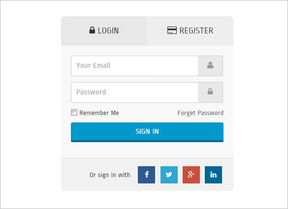 basic html5 login form with massive look