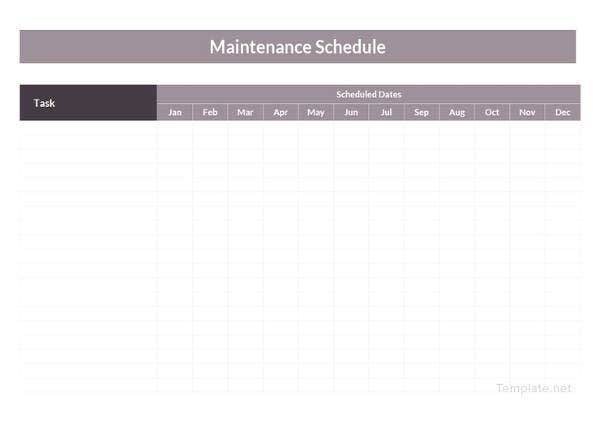 basic-maintenance-schedule-template