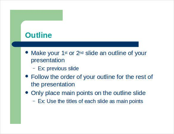 presentation outline template - 26+ free sample, example, format, Modern powerpoint