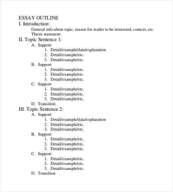 Sample Apa Essay Paper  Term Papers And Essays also The Yellow Wallpaper Critical Essay  Essay Outline Templates  Pdf Doc  Free  Premium  Abortion Essay Thesis