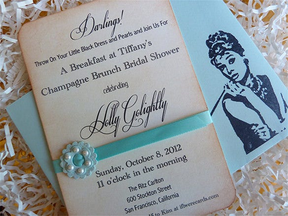 beautiful breakfast invitation template