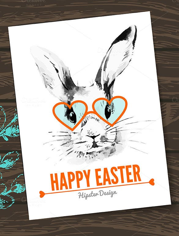beautiful easter card hipster eps design