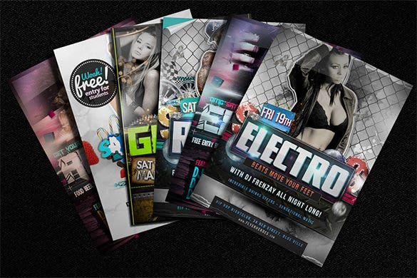 beautiful flyer mock up template