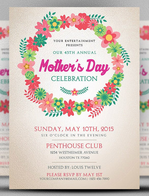 beautiful mothers day flyer template