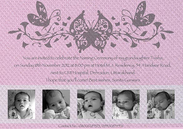 beautiful naming ceremony invitation template1