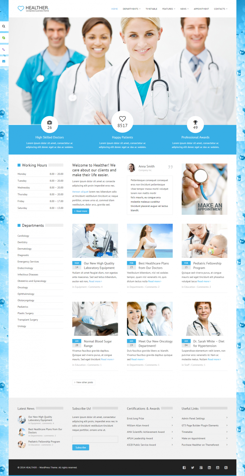 Beauty & Health WordPress Template