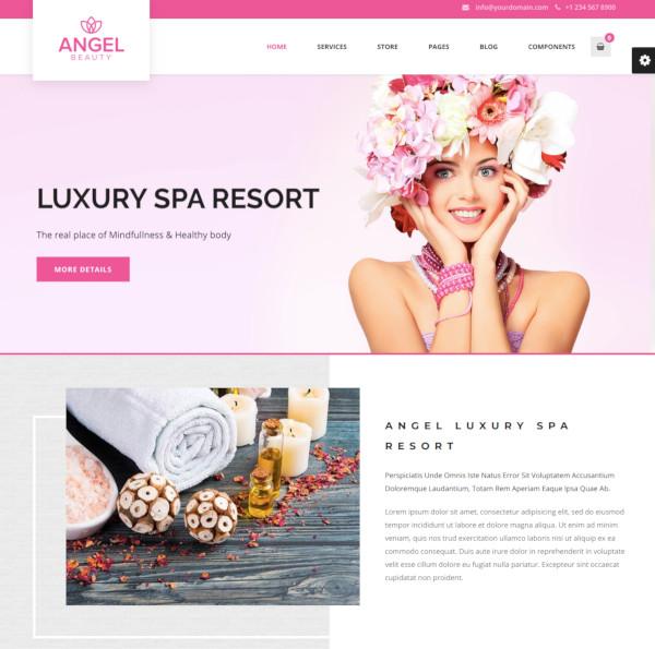 beauty spa massage salon theme