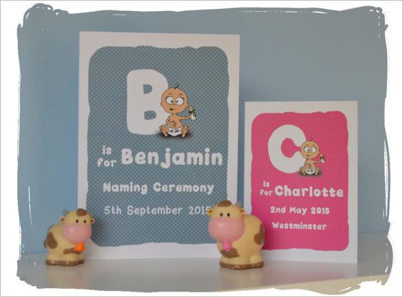 benjamin naming ceremony invitation template