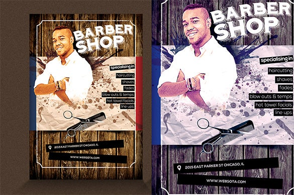 best barber shop flyer template