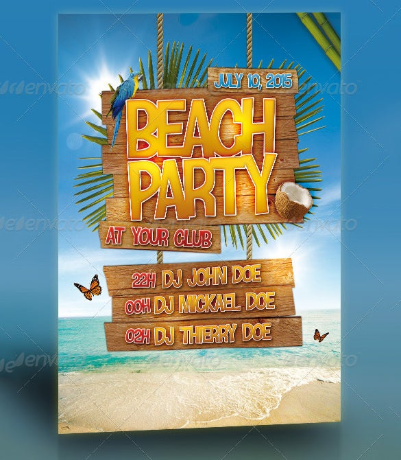 17+ Amazing Psd Beach Party Flyer Templates & Designs! | Free