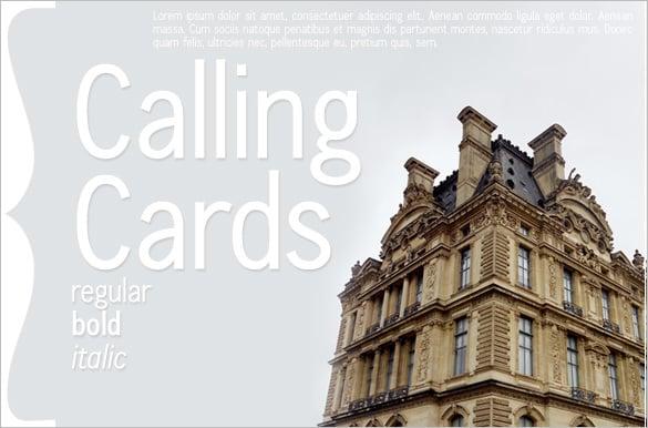 best calling card template