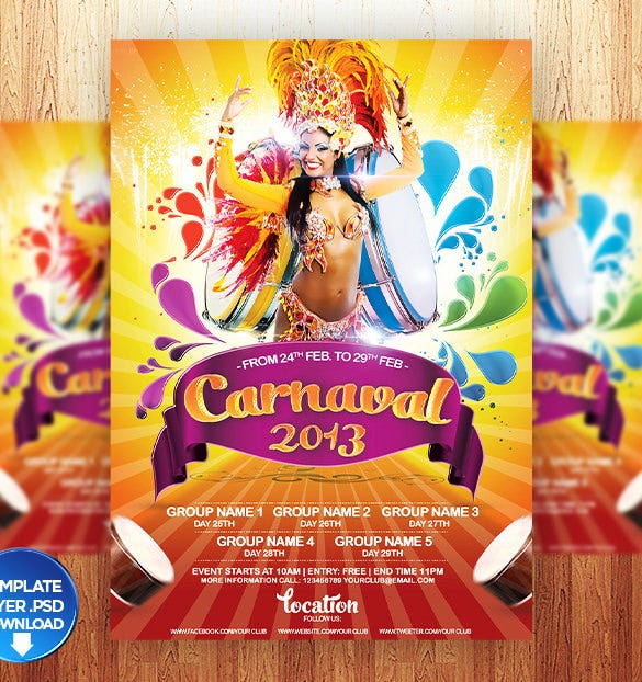 best carnival flyer template