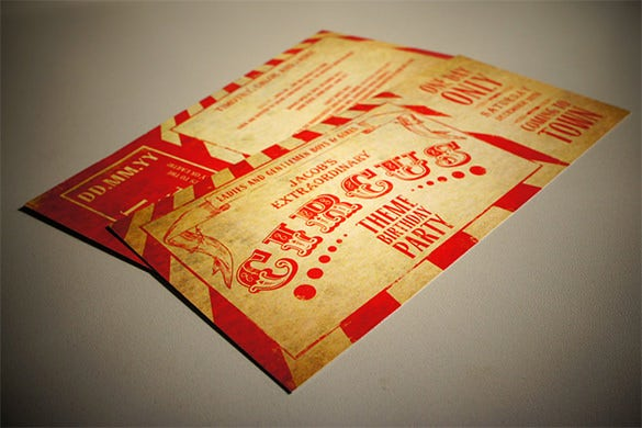 best circus party invitation