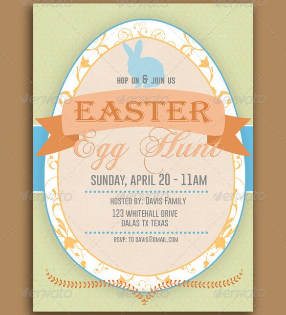 best easter egg hunt invitation template