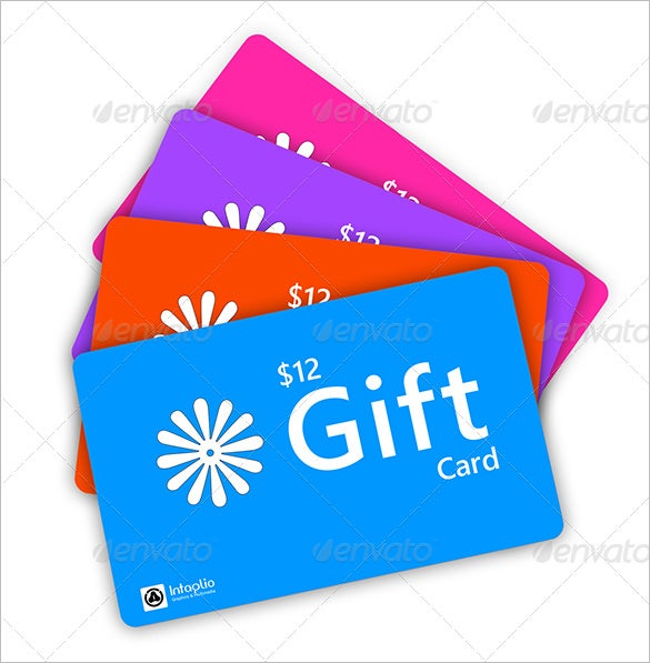 best gift card psd template