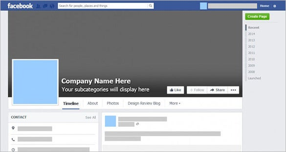 10 outstanding psd facebook templates designs free for Facebook page design template free